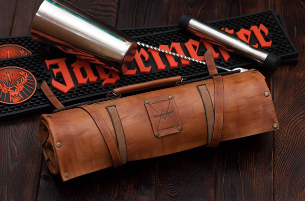 Leather Roll Bartender Bag by Dragunovshop