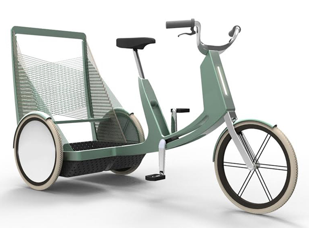 Lecomotion Nested Urban E-trike by Natacha Lesty