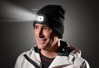 Warm and Cozy LED Light Up Beanie for Camping or Night Running