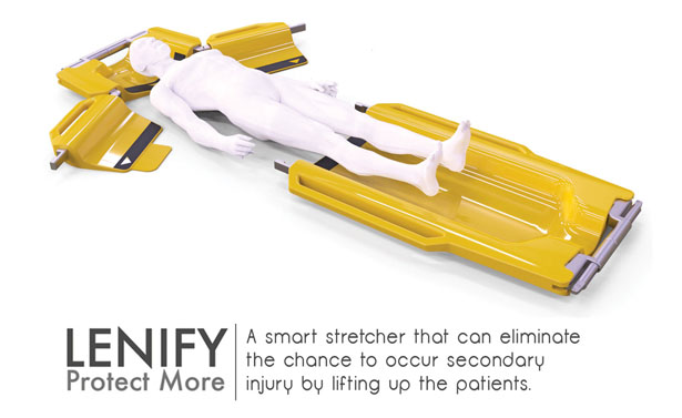 Lenify Collapsible Emergency Stretcher by Danny Lin