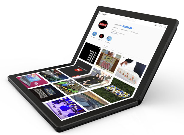 Lenovo Presents World's First Futuristic Foldable Laptop in ThinkPad X1 Family