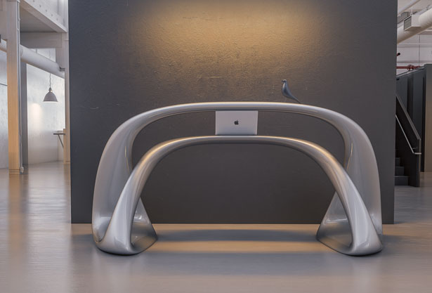 Leta Reception Desk by Nuvist