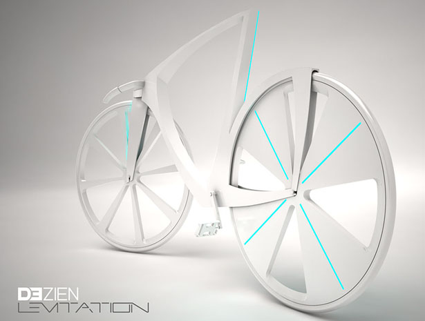 Eco-Friendly and Minimalist Levitation Bike With Triangular Frame