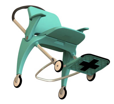 levo hospital transport chair concept