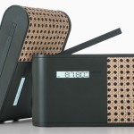 Lexon Hybrid Radio Is Wrapped Partially in Woven Rattan