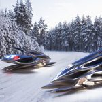 Xivan: Solar-powered Maglev Snowmobile Concept Proposal for Lexus