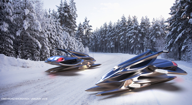 Xivan: Solar-powered Maglev Snowmobile Concept Proposal for Lexus by Mehrdad Khorsandi