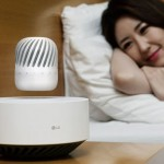 LG Levitating Portable Speaker Charges Its Battery Wirelessly
