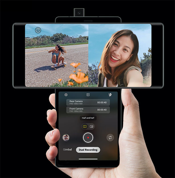 LG Wing - Multiscreen Smartphone with Swivel Feature