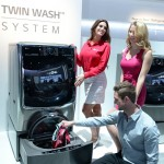 LG Twin Wash System Allows Two Separate Loads to Be Washed Simultaneously
