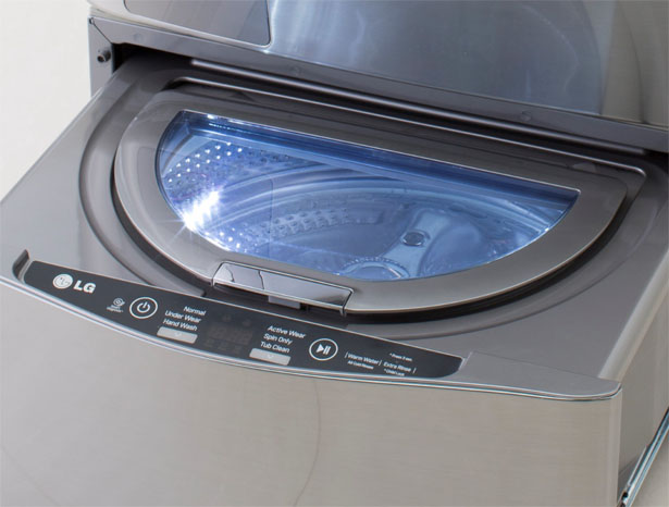Lg Twin Wash System Allows Two Separate Loads To Be Washed