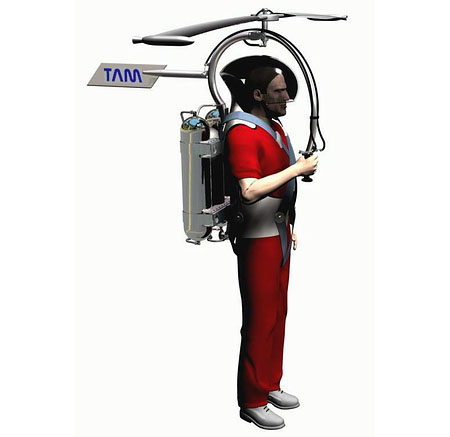 libelula strap on helicopter for individual