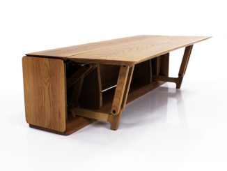 Lido Expandable Floor Table by Nak Boong Kim