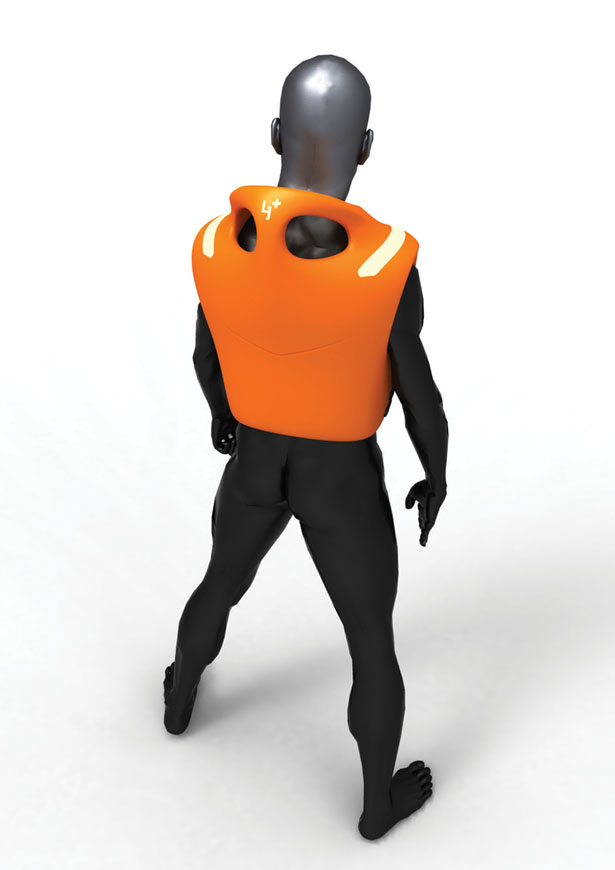 Life Jacket Plus Concept Features Two Handles within The Collar