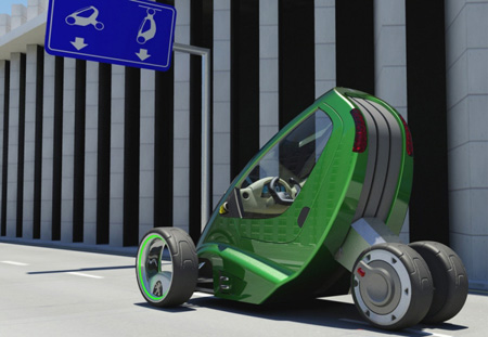 LIFT Car Concept : Hang Your Car in The Parking Lots
