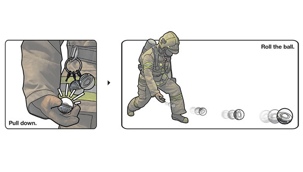 Light Ball Concept for Firemen
