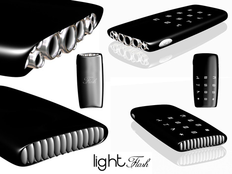 Futuristic Light Flash Concept Cell Phone