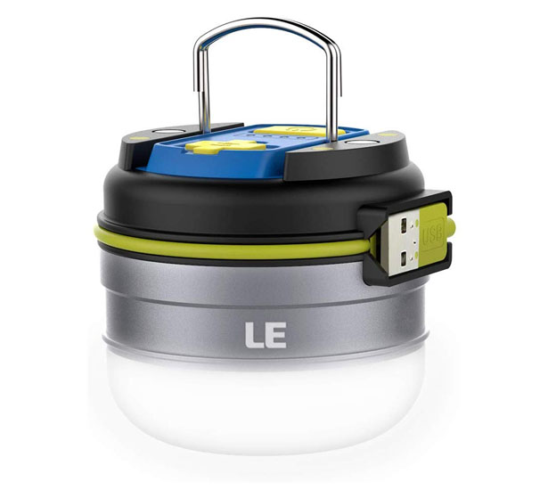 Lighting Ever Portable Rechargeable LED Lantern with Magnetic Base