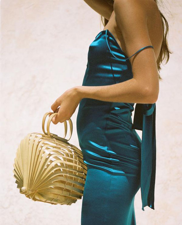 Lilleth Bag is a handmade collapsible bamboo bag by CULT GAIA