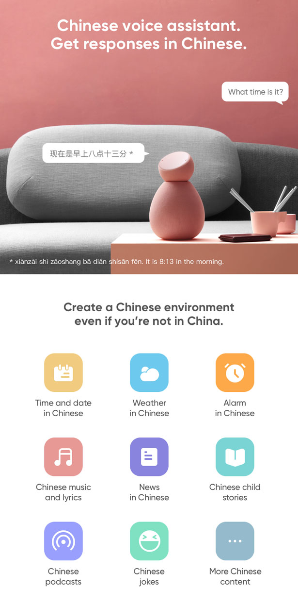 Lily Smart Speaker Teaches You Chinese through Interactive Conversation