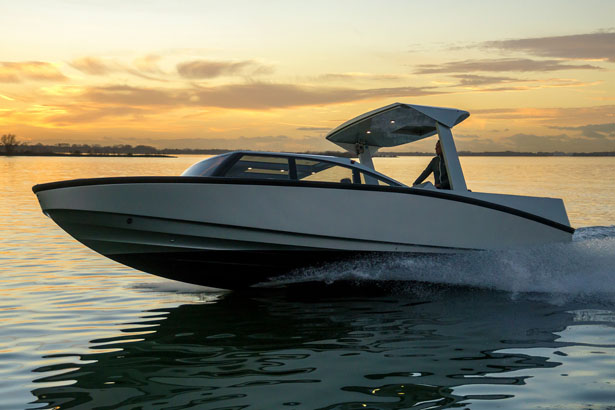 Limousine Yacht Tender Features Two Separately Actuated Roofs