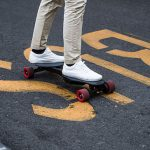 Linky Foldable Electric Longboard is an Air-Travel Friendly Battery Powered Skateboard