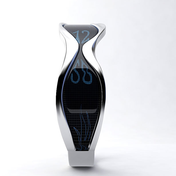 Liquid Time : A Unique Wrist Watch with Creative and Smart Typography