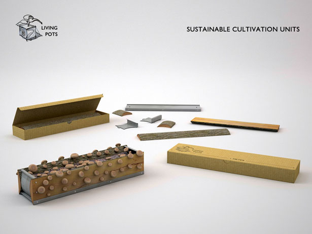 Living Pots Sustainable Cultivation Units by Hakan Gursu