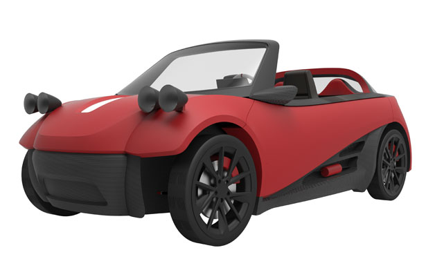 Lm3d swim world s first 3d printed car series by local for Local motors 3d printed car