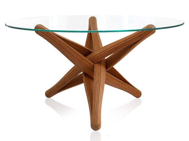 Lock Bamboo Table by J.P.Meulendijks