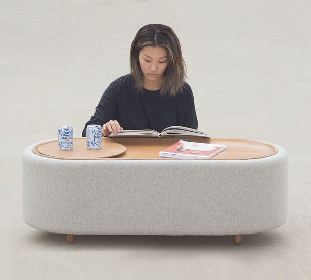 Lofe : Minimalist Coffee Table with Hidden Compartment by Julie Hong