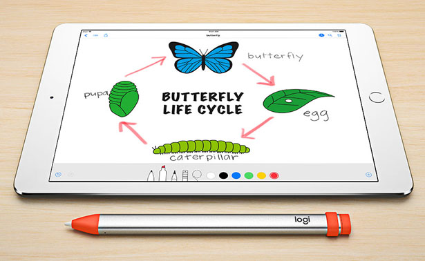 Logitech Crayon Digital Pen Is Specially Designed For Ipad