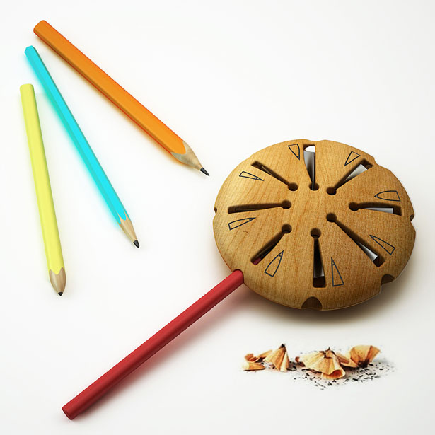 Lollypop Pencil Sharpener by Hakan Gürsu of Designnobis