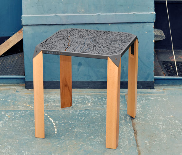 London Map Side Table by Hasan Agar