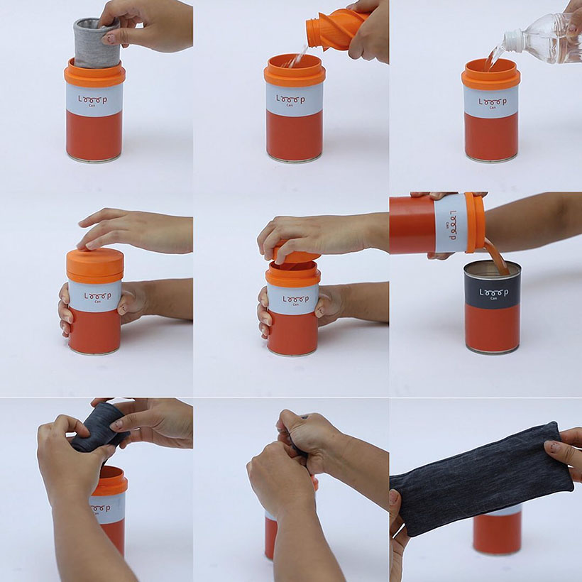 Looop Can - A Cleaning Kit for Washing Reusable Mensuration Pads by Kara Wong
