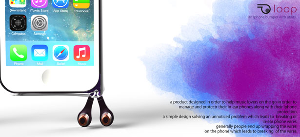 LOOP - An Iphone Bumper with Ear Phone Management Utility by Subinay Malhotra