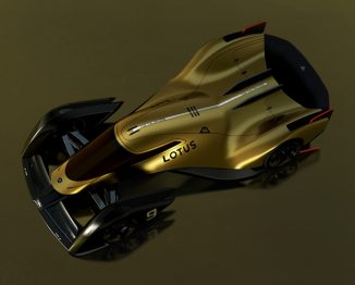 Lotus E-R9 Race Car Runs on Advanced Electric Drivetrain Powering Each Wheel Independently