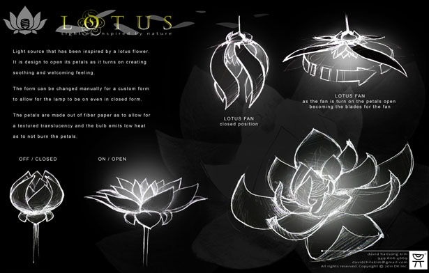 Lotus Lamp by Hansong Kim