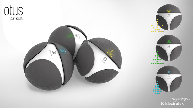 Lotus Portable Air Balls by Fulden Dehneli