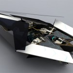 Futuristic and Luxury Yacht With Moveable Roof