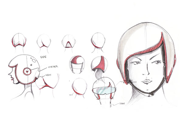 Luxy Vespa Helmet by Daniel Don Chang