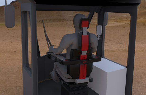 M Series Operator Seat Design Forces Operator to Have Ergonomically Correct Posture While Working