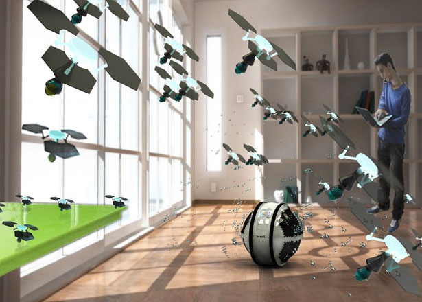 Mab - An Automated Cleaning System with Hundreds of Micro Robots by Adrian Perez Zapata