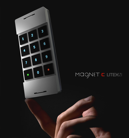 Magnet Smart Mobile Phone Concept with A Large Solar Cell Panel