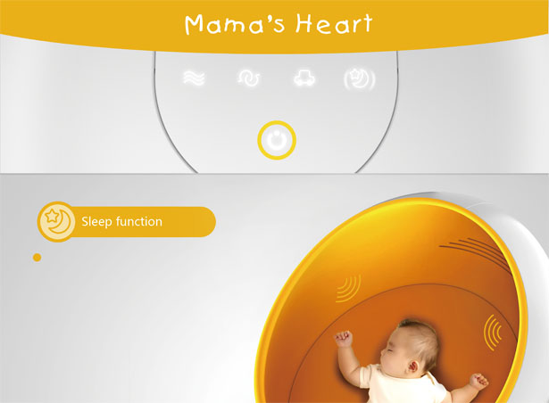 Mama's Heart Baby Cot Concept by Chen Liming