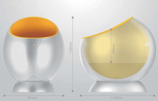 Mama's Heart – A Futuristic Baby Crib Concept to Soothe Your Baby to Sleep