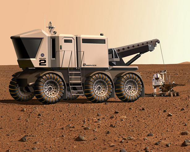 Manned Mars Expedition Rover by Gregg Montgomery
