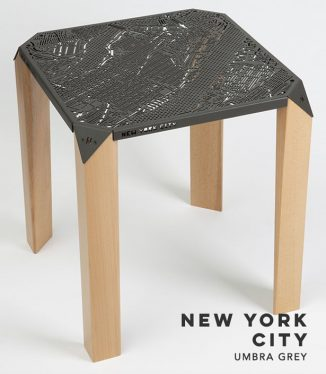Map on Table : Gorgeous Side Table Allows You to Explore Streets of NYC or London