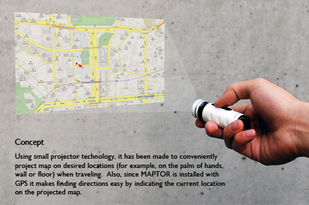 maptor, combination of map and projector