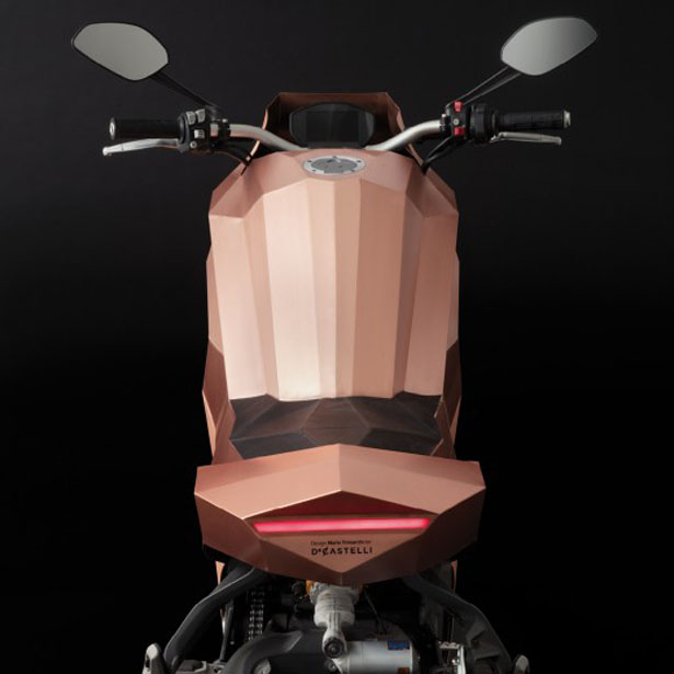Samotracia Copper Motorcycle by Mario Trimarchi for De Castelli